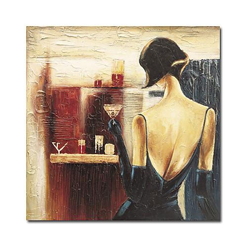 ручная роспись людей масляной живописи с вытянутыми кадра Lightinthebox 2577.000