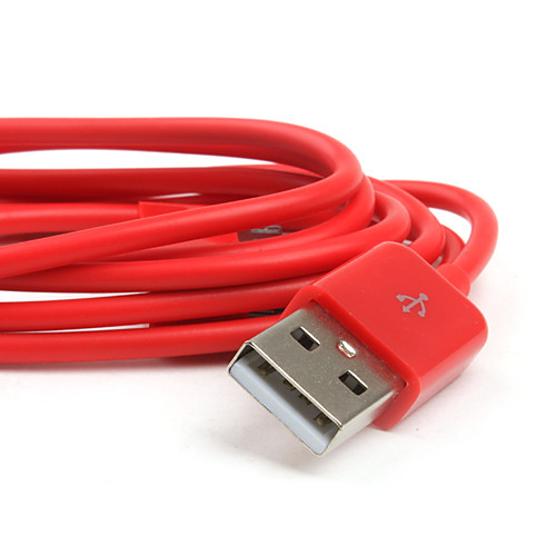 красочные синхронизации и зарядки кабель для IPad и мобильный 6 iPhone 6 плюс (красный / 100см длина) Lightinthebox 30.000