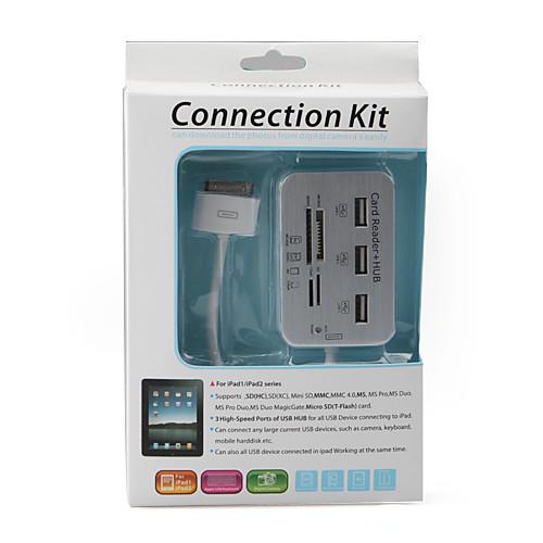 3-в-1 Высокоскоростной USB-концентратор  набор для подключения камеры  кард-ридер SD/MMC/MS  для iPad, iPad 2 и The new iPad Lightinthebox 378.000