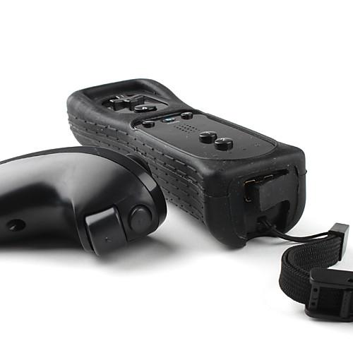 Пульт MotionPlus и нунчак с чехлом для Wii/Wii U (черный) Lightinthebox 642.000