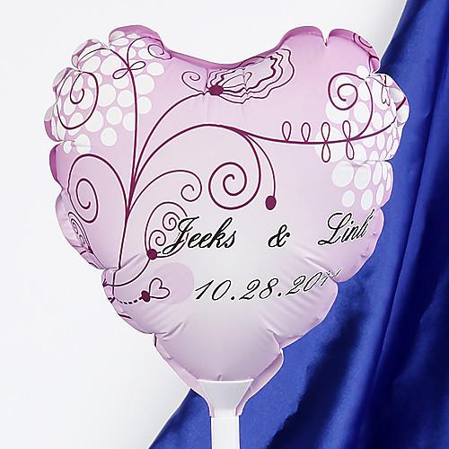 персонализированной форме сердца свадьба воздушный шар - живой цветок Lightinthebox 160.000