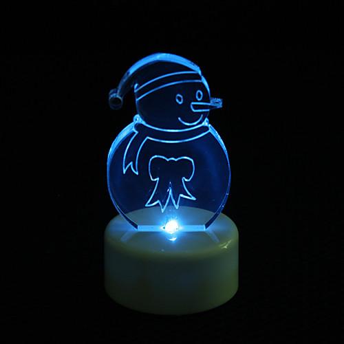 снеговик дизайн красочный привело свет ночи Рождественский фестиваль украшения Lightinthebox 128.000