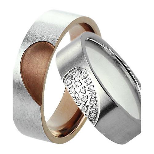 женщин серебро с четкими кольцо сталь титан Lightinthebox 515.000