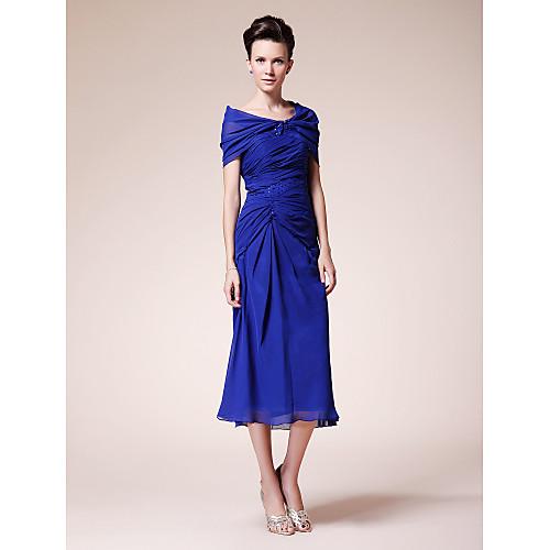 Платье вечернее/для выпускного с накидкой, длина ниже колена, материал шифон Lightinthebox 4279.000
