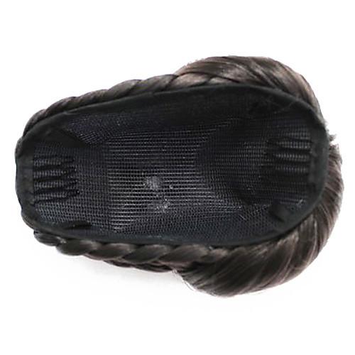черные синтетические плетеные булочки шиньон Lightinthebox 773.000