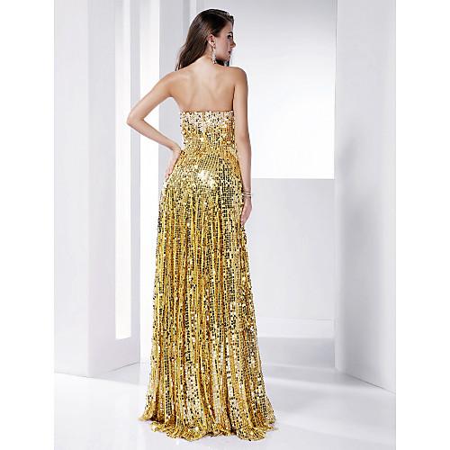 Платье вечернее длиной до пола, расшито пайетками, силуэт колонна Lightinthebox 3802.000