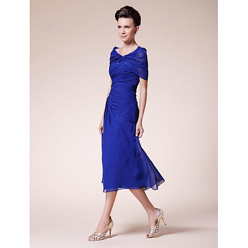 Платье вечернее/для выпускного с накидкой, длина ниже колена, материал шифон