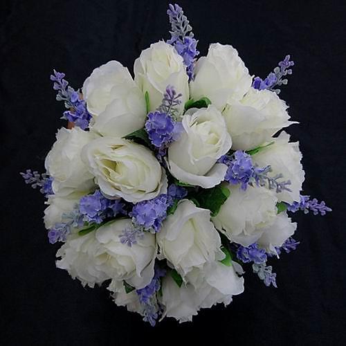 красивые атласные круглый свадебный букет Lightinthebox 644.000