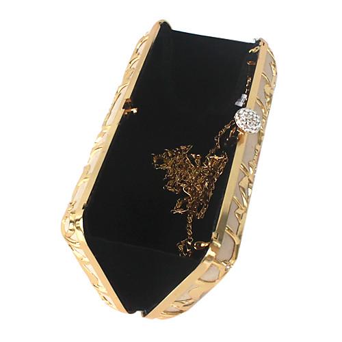 нержавеющей стали с горный хрусталь вечерние сумочки / муфты больше цветов Lightinthebox 1245.000