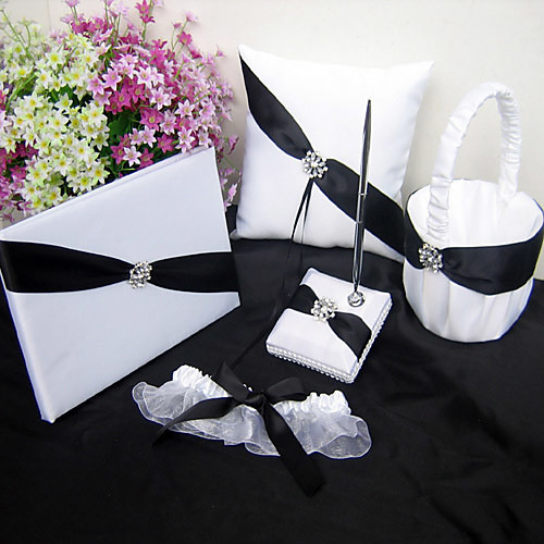 мерцающий свадьба сумерки сбора в белом и черном акцентом (5 штук) Lightinthebox 1933.000