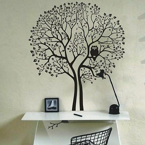 большое дерево и сова стены стикеры (1985-d5) Lightinthebox 1503.000
