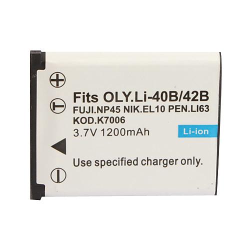 1200mAh батарея камеры np-45/40b для Fujifilm J10, J100, J110, J120, J150 Lightinthebox 171.000