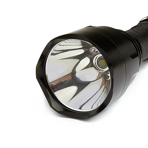 Фонарик светодиодный, UltraFire 5-режимов CREE XPE  (1000LM, 1x18650, черный)