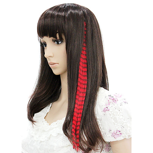 mixcolor 18 дюймов клип в синтетических наращивания волос пером (6 шт) Lightinthebox 386.000