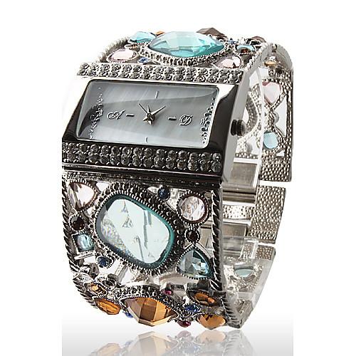 Жен. Эксклюзивные часы Наручные часы Diamond Watch Кварцевый Серебристый металл Повседневные часы Аналоговый Дамы Блестящие Кольцеобразный Мода
