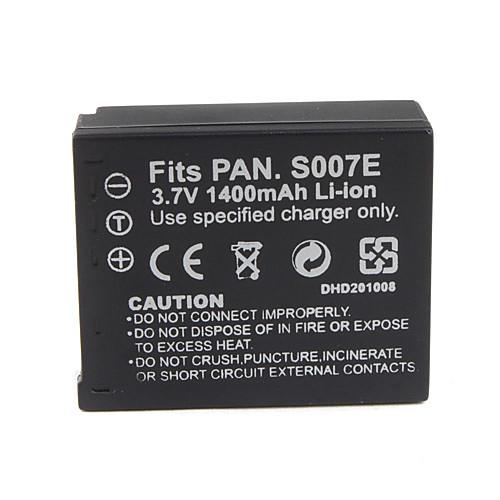 1400mAh батарея камеры s007/bcd10 для Panasonic Lumix DMC-TZ1 серии Lightinthebox 214.000