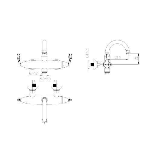 ти-PVD отделка античный стиль ванной комнате раковина кран Lightinthebox 8593.000