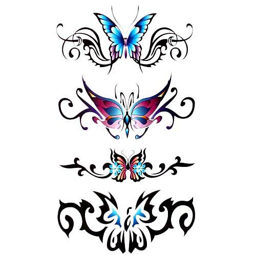 5 шт бабочки водонепроницаемый временную татуировку (17,5 см  10 см) Lightinthebox 214.000