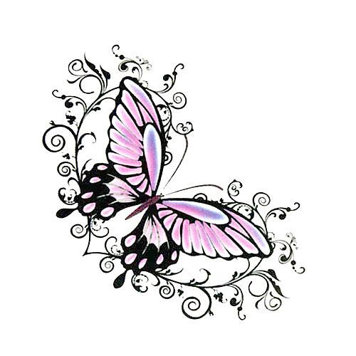 5 шт бабочки водонепроницаемый временную татуировку (6м  6 см) Lightinthebox 214.000
