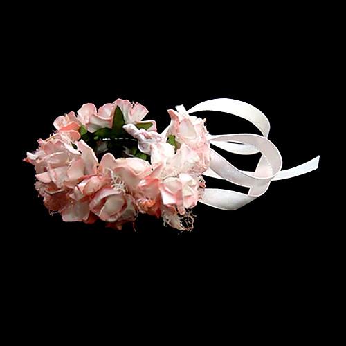 прекрасный розовый атлас цветок свадьба девушки цветка / свадебные запястье цветок Lightinthebox 85.000