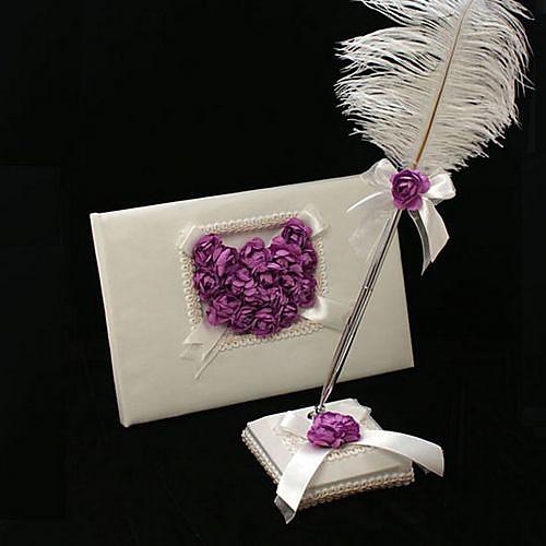 свадьба гостевая книга и перо перо установить с сиренью выросли сердце