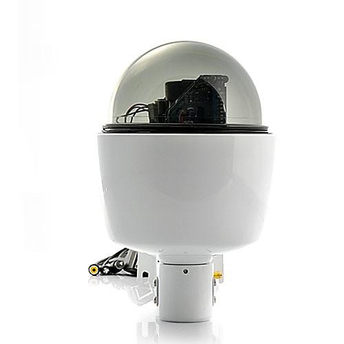 Мини купольная IP-камера (от непогоды, PTZ-контроль, 3-кратный оптический зум, WiFi)
