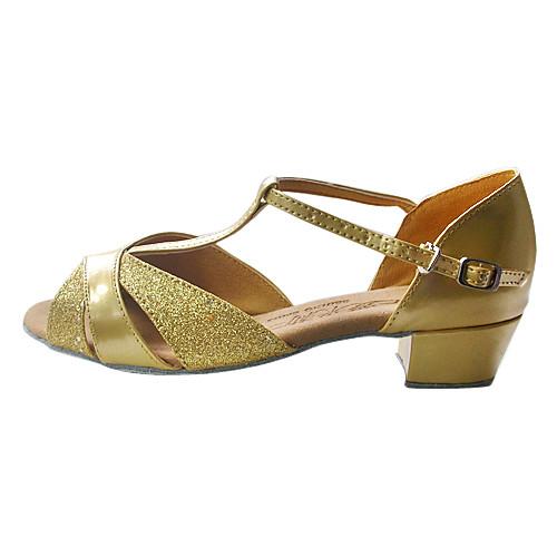 искусственная кожа / сверкающие блеском верхней танцевать бальные туфли латинского обувь для женщин / Дети Lightinthebox 858.000