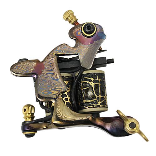 Комплект из 2 уникальных тату машинок ручной работы из дамасской стали, блока питания с LSD дисплеем и набор из 46 цветов тату чернил Lightinthebox 8593.000