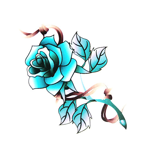 5 шт цветок водонепроницаемый временную татуировку (6м  6 см) Lightinthebox 214.000