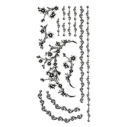 5 шт черные ювелирные водонепроницаемый временную татуировку (18.5cm  9см) Lightinthebox 214.000
