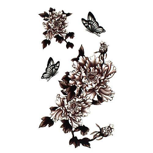 5 шт цветок водонепроницаемый временную татуировку (17,5 см  10 см) Lightinthebox 214.000