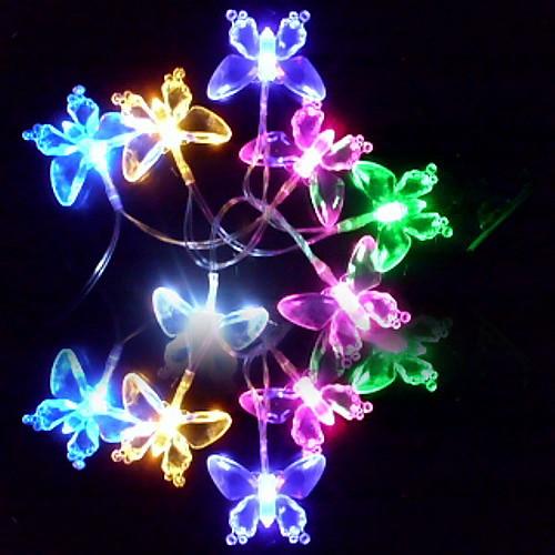 Светильник с разноцветными LED лампами (110/220V) в форме бабочки, 6M 3W 32-LED