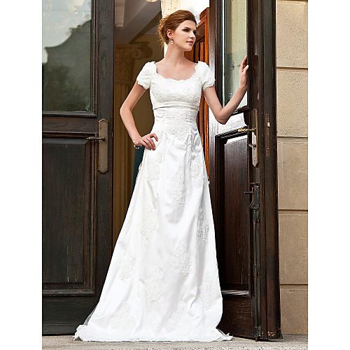 Свадебное платье из сатина и органзы в нреческом стиле с небольшим капюшоном Lightinthebox 3854.000