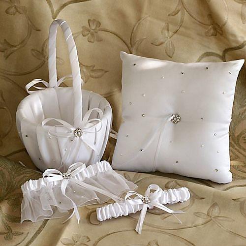 Свадебная коллекция звезд набор из белого атласа со стразами (3 штуки) Lightinthebox 1108.000