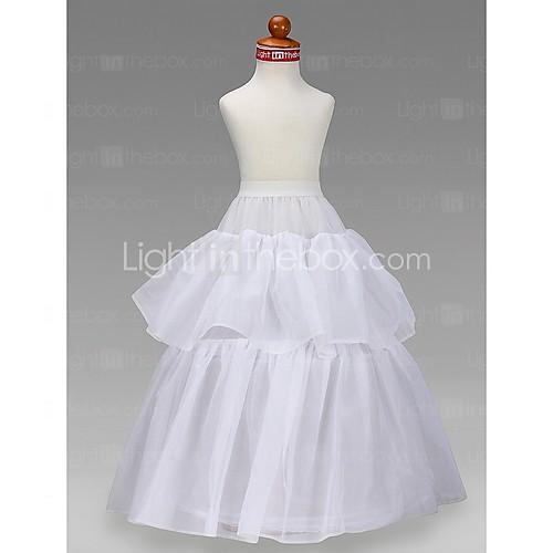 цветочница тафты бальное платье 2-го уровня до пола скольжения стиль / свадебные юбки Lightinthebox 858.000