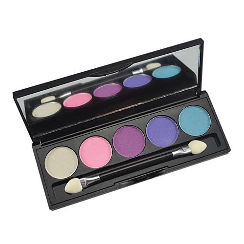 5 цветов палитры теней для век с бесплатным кисти Lightinthebox 85.000