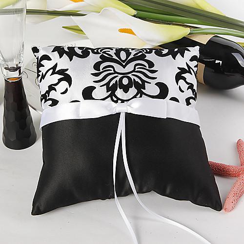 дамасской обручальное кольцо подушки с белым бантом Lightinthebox 334.000