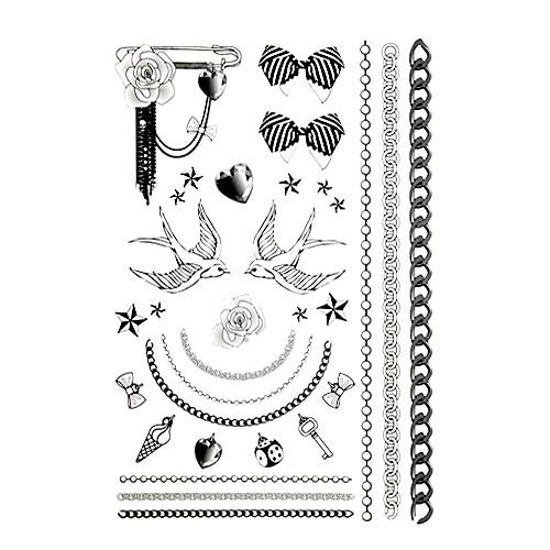 6 штук ювелирных и цветочных смешанных временную татуировку Lightinthebox 214.000