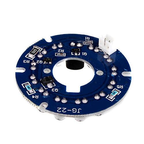 инфракрасный 12-Светодиод платы пластина для камеры видеонаблюдения 3.6мм безопасности линзы Lightinthebox 214.000