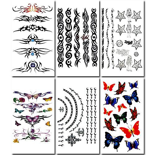6 шт цветок кольцо смешанных временную татуировку Lightinthebox 214.000