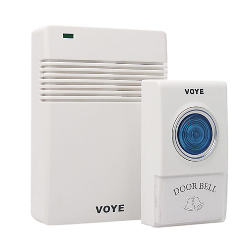 белый пульт дистанционного управления беспроводной дверной звонок со светодиодом 38 мелодий Lightinthebox 171.000