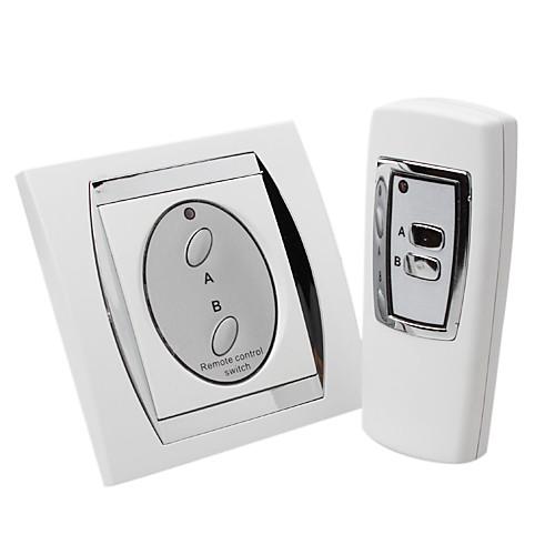 2-канальный цифровой беспроводной пульт дистанционного управления выключателем (элегантный дизайн) Lightinthebox 472.000