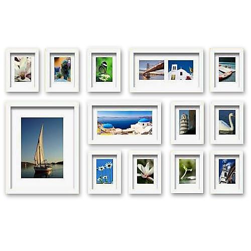 современная галерея белый коллаж кадры стены фотография, набор из 13 Lightinthebox 3007.000