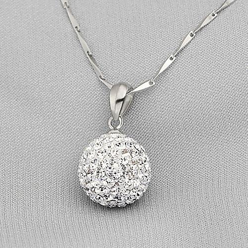 Стерлингового серебра 925 пробы / горный хрусталь с платиновым покрытием кулон Lightinthebox 335.000