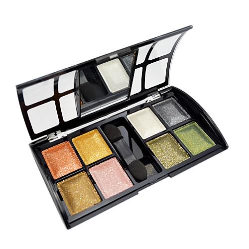мягкое мерцание 8 цветов теней для век с бесплатным кисти Lightinthebox 235.000