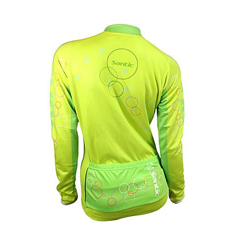 езда на велосипеде Шантич-женщин куртка со 100%-полиэфирные зимой 2011-желтого цвета Lightinthebox 1288.000