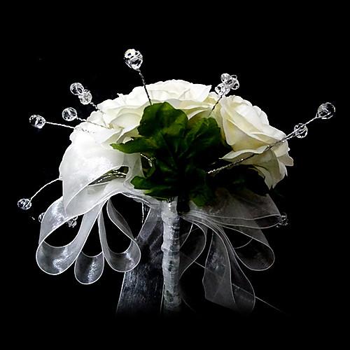 элегантная круглая форма сатин / кристалл свадьбе букет невесты Lightinthebox 1073.000