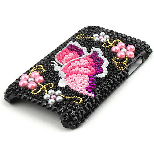 защитный футляр обратно с кристаллами для iphone 3g/3gs (бабочка) Lightinthebox 257.000
