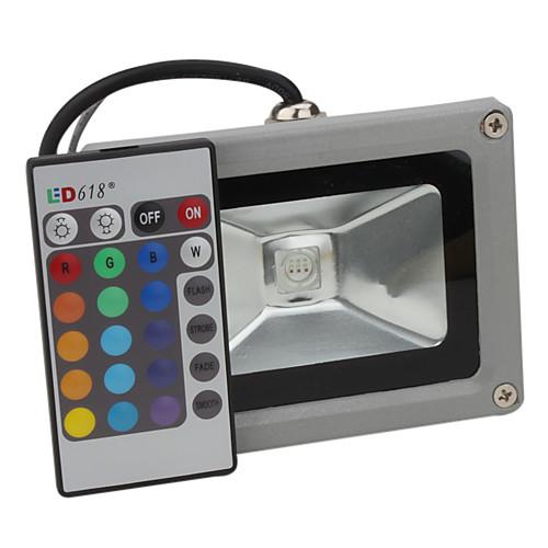 10 Вт 800-900 люмен RGB светодиод рассеянного освещения на дистанционном управлении (95-265 В) Lightinthebox 900.000