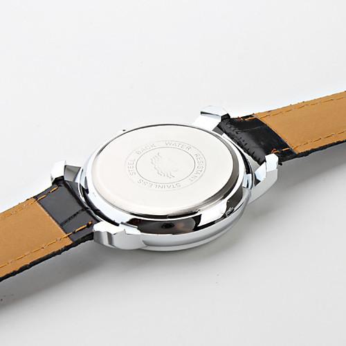 мужские римские цифры черного PU Группа Кварцевые наручные часы Lightinthebox 300.000